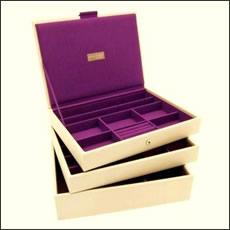 Juwelendoos Stackers /cream & purple
